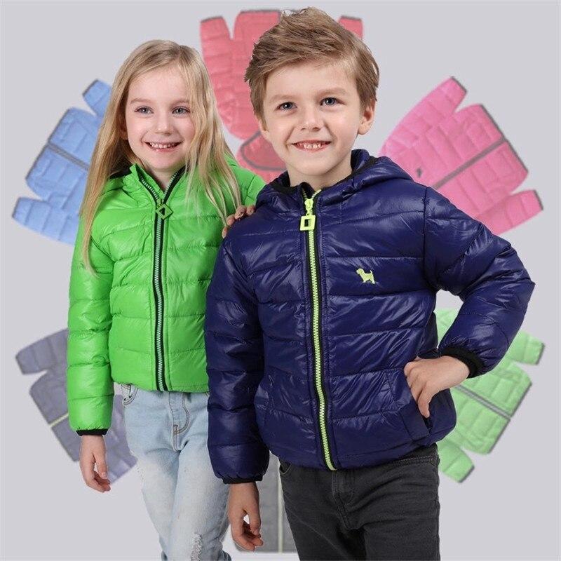 Yeni 2016 Erkek ve Kız Kabanlar Palto Çocuk Moda Siper Çocuklar Kış Ceketler Mont Sıcak Giysiler Bebek Giyim 2-7 yıl
