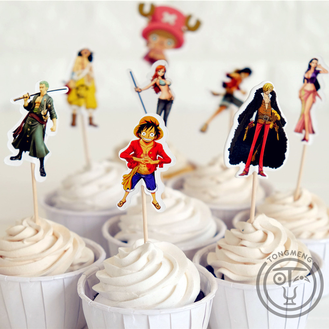 24pcs Anime The Straw Hat Pirates One Piece Luffy Roger Chopper