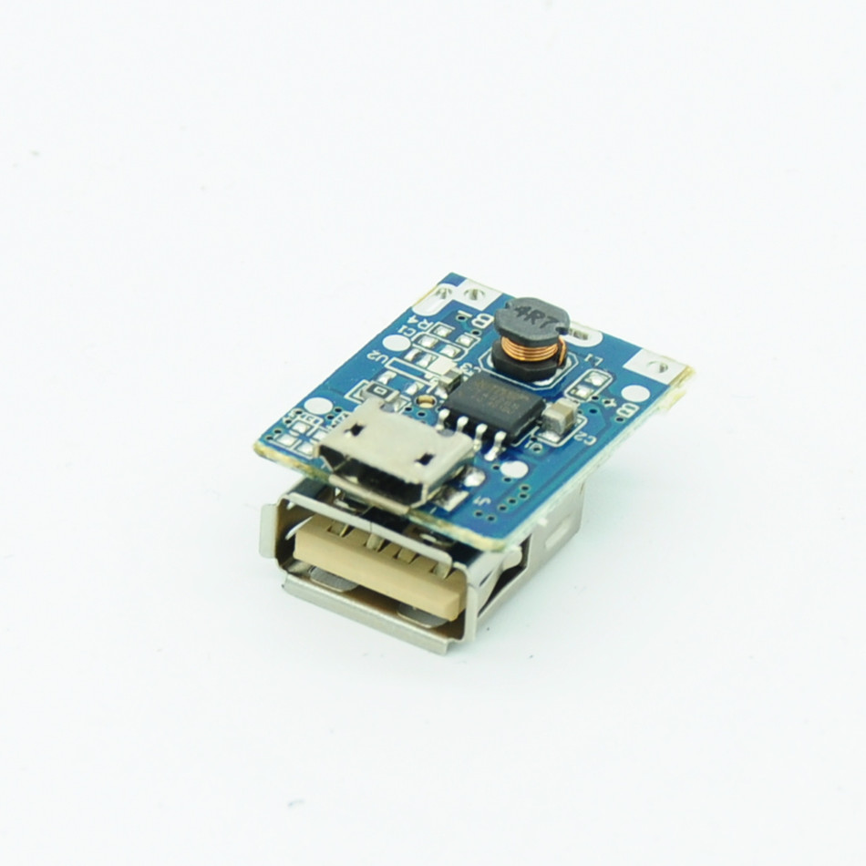USB Li-Po 18650 5V 1A Lithium Battery Protection Boost Step up Charger Board