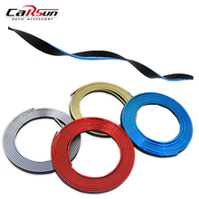 5M Car Styling Interior PVC Decoration Thread DIY Moulding Strips Brand New Car-Styling Door Dashboard Air Outlet Decal Trims 3 7 meter interior moulding trim strip decoration thread dashboard sticker decals door air outlet auto accessories car styling