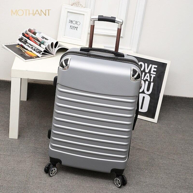 20 pouces abs boîtier de chariot étudiant valise mâle mot de passe boîte femelle valise trolley valise de luxe roulant bagages