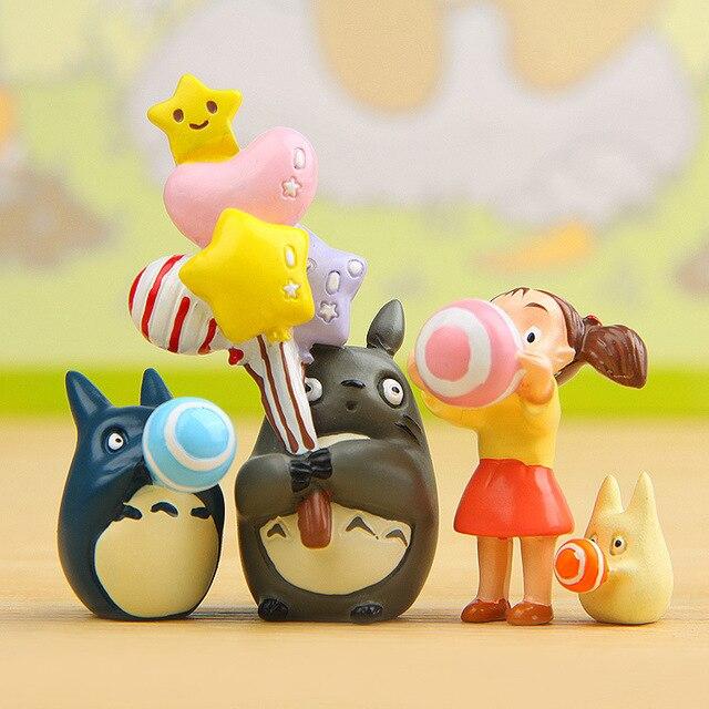Hayao Miyazaki Classic Anime Totoro Celebration Group Festive Xiaomei Satsuki Twitter Blue Totoro DIY Figure Toy