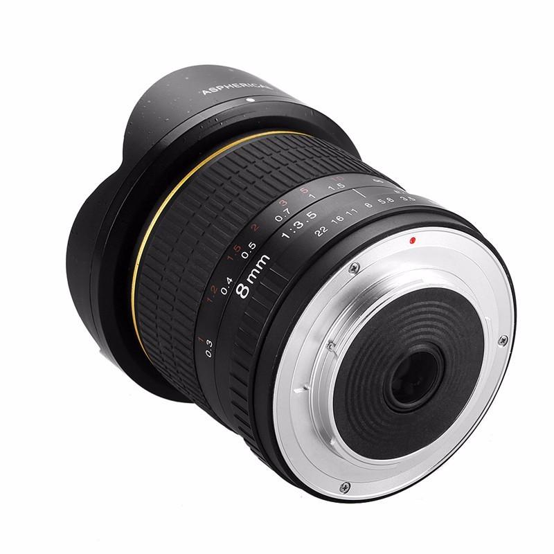 8mm F/3.5 Ultra Wide Angle Fisheye Lens for Nikon DSLR Cameras D3100 D30 D50 D5500 D7000 D70 D800 D700 D90 3