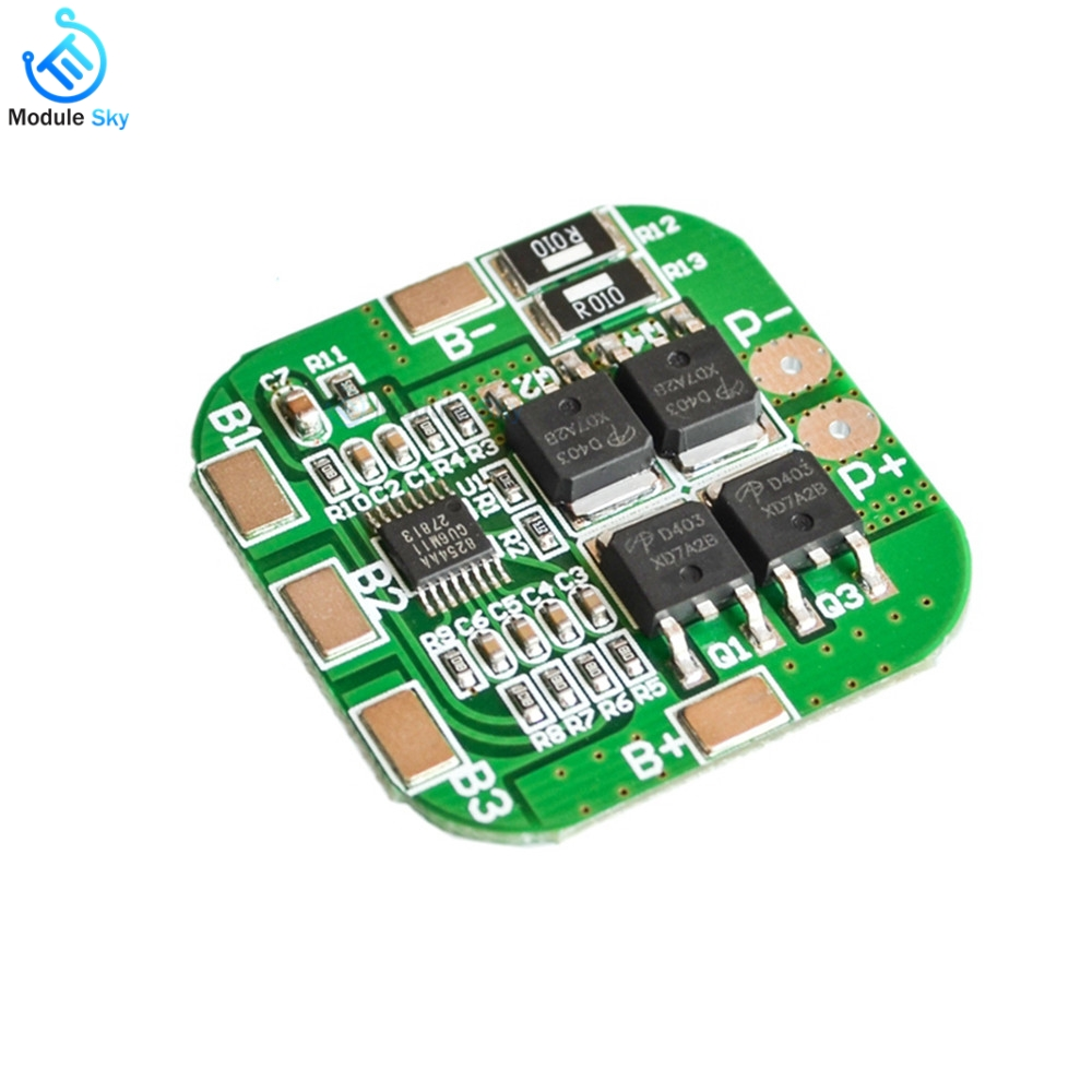 Bms 4S Li-ion Battery Protection Board 14.8V/16.8V 20A  For Lithium LicoO2 Limn2O4 18650 LI Battery Balancer Module