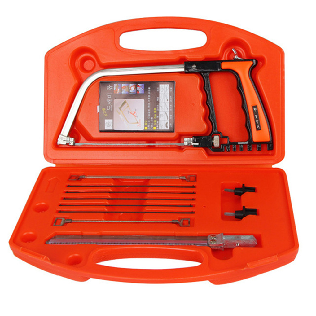 цена на 11 in 1 Mini Multifunction Bow Saw Tools Set DIY All-purpose Hand Saw for Woodworking Cutting PVC Wood 4 Types
