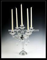 Красивый элегантный кристалл подсвечник 5 согревает канделябры для украшения дома