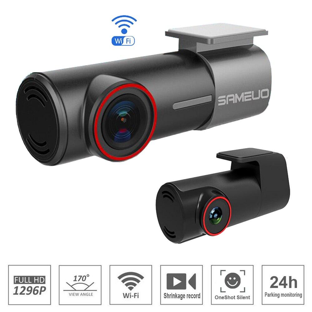 ZUCZUG universel mini caché WiFi voiture DVR FHD Vision nocturne Dash Cam enregistreur rotatif lentille sans fil instantané APP double caméras