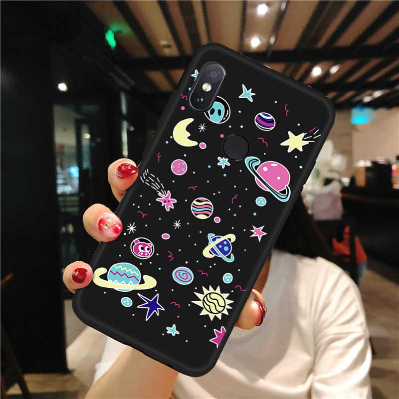 Silikon TPU Phone Case untuk Xiaomi Redmi Note 6 5 PRO 7 8 6A 5A S2 Ruang Yang Indah Pola Dicat untuk Redmi 5 Plus 6 Pro 4X