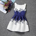 2016 Retail summer dress Sleeveless kids Clothes girl dress Cute sweet  Baby girl clothes pretty Sashes style Dresses F0049