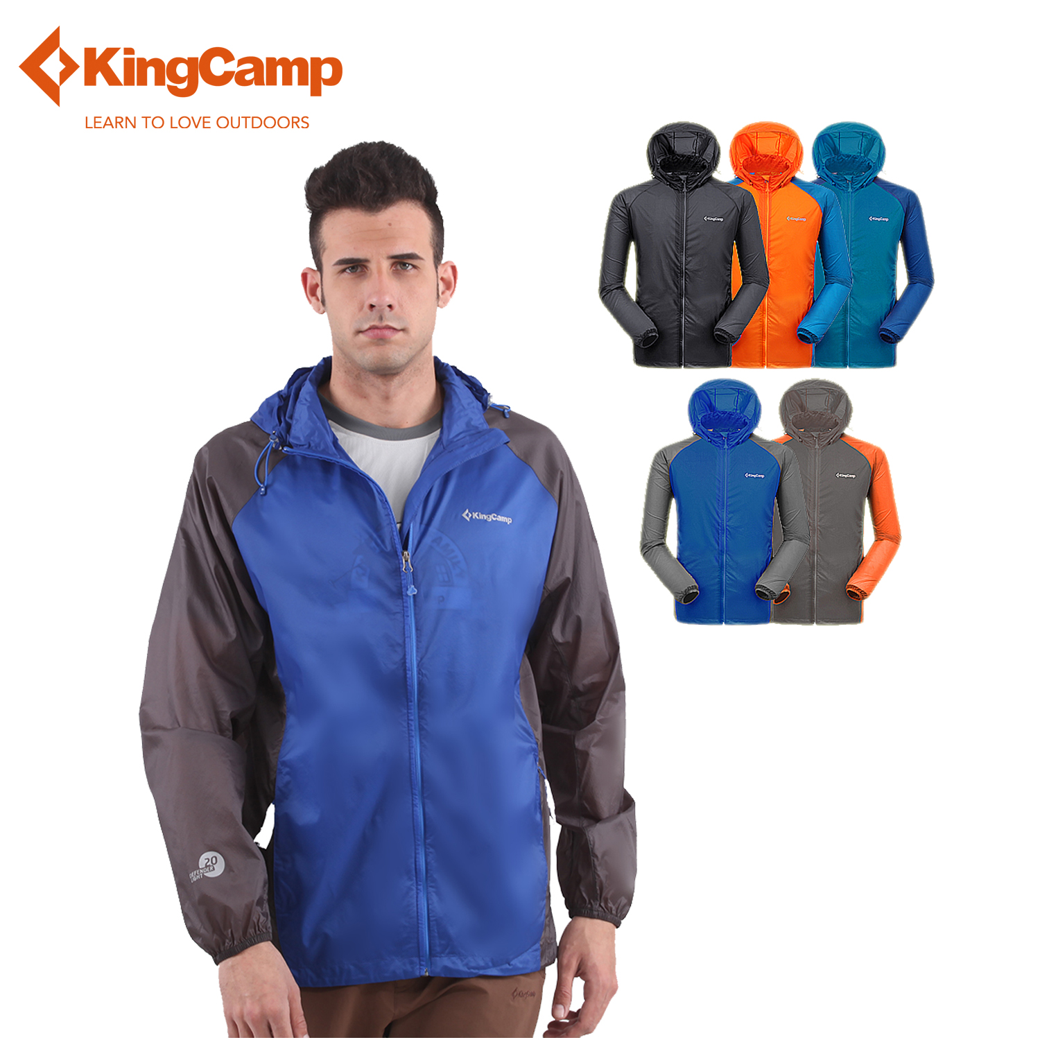 ФОТО KingCamp 2016 mens Easy Carrying Lightweight UV Protect+Quick Dry Windproof Windbreaker Slim Fit Jacket