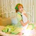 Amor vivo! Koizumi Hanayo cos verdes pijamas ropa de dormir de atascos Cosplay