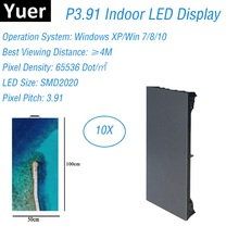 Indoor RGB P3.91 LED Video Wall Panel Rental Led Display Screen For Stage Concert Advertising Professional Lighting Party Effect