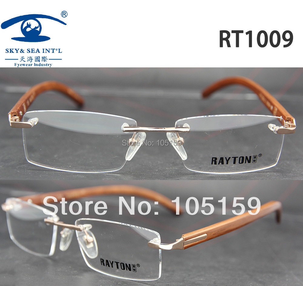 Aliexpress.com : Buy Rimless Eyeglasses for Men Rare Wood ...