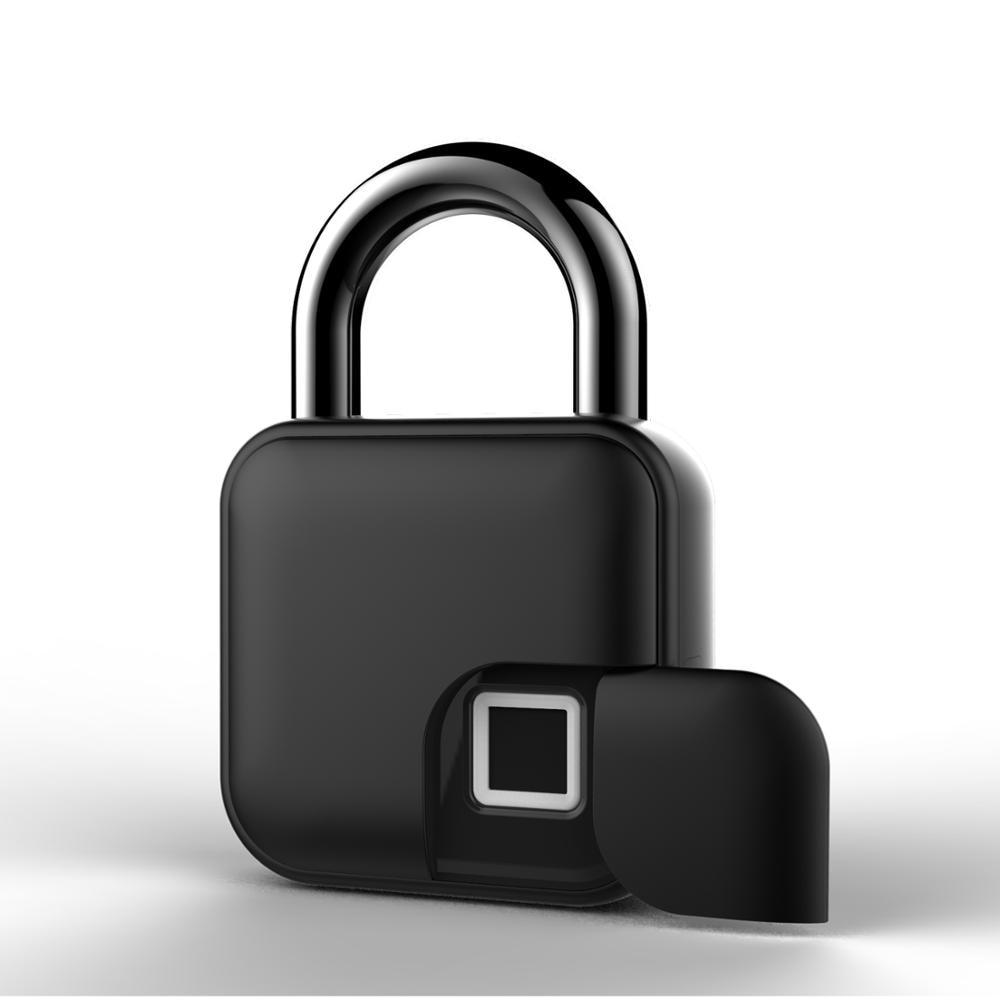 USB Rechargeable Smart Lock Keyless Fingerprint Lock IP65 Waterproof Anti-Theft Security Padlock Door Luggage Case Lock FLL3
