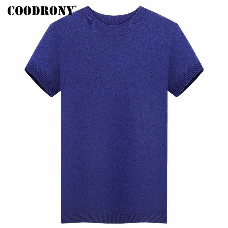 COODRONY Short Sleeve Sweater Men 2018 Autumn Winter Merino Wool Sweaters Cashmere Pullover Men Casual Turtleneck Pull Homme 342