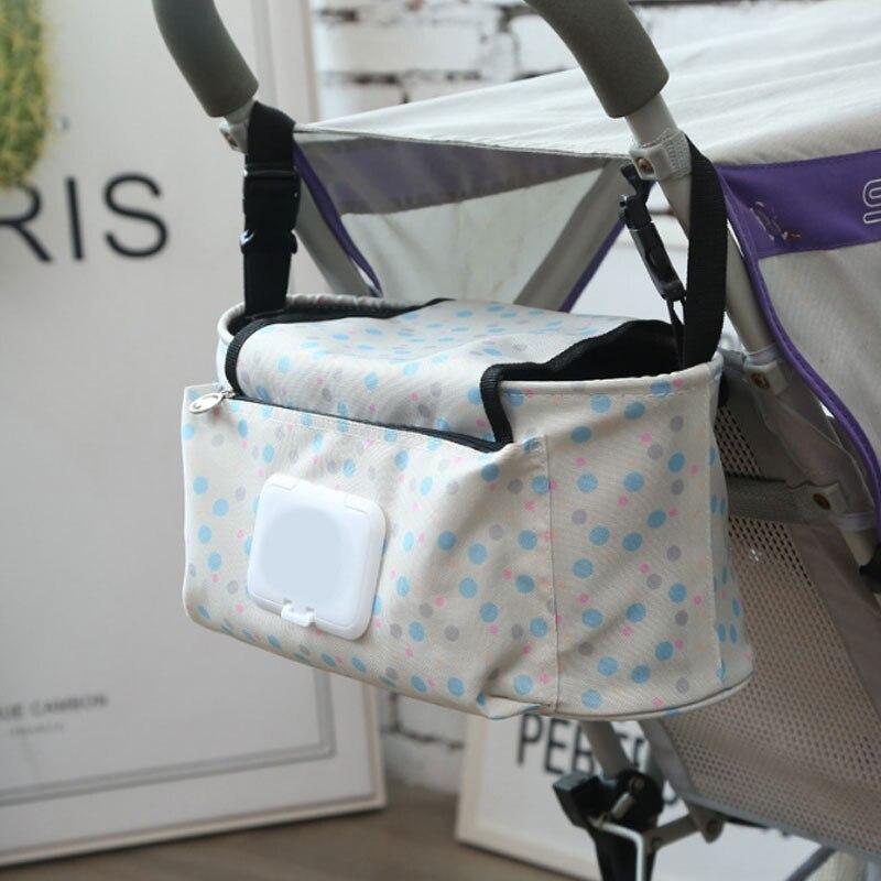 Multifuncional cochecito colgante bolsa de almacenamiento con correa de hombro bolsa de pañales para bolso de Bebé y Mamá bolsa organizadora de pañales