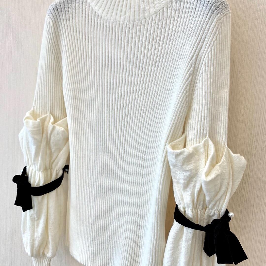 Vêtements Nail Tailles Chandail Nouveau Couleurs Femmes Perle 2019 D'hiver White 3 1 qF50ztdw