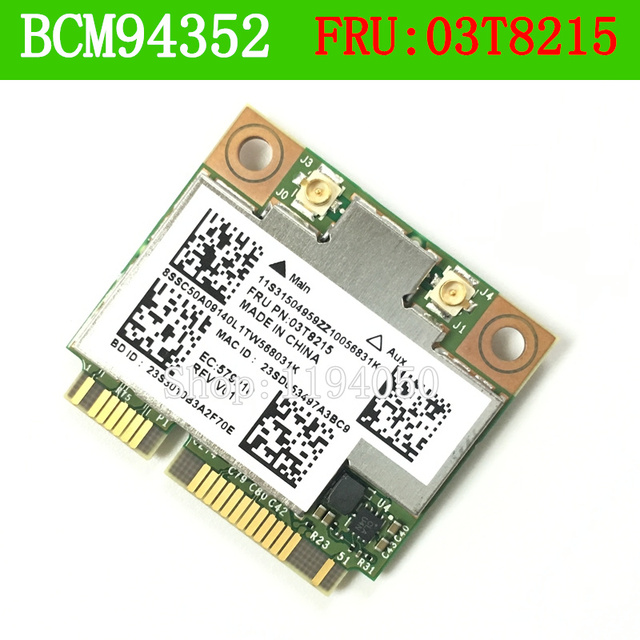 BCM4352HMB 03T8215 802.11AC 867 МГц Беспроводная Связь Bluetooth Карта для IBM BCM4352 802.11AC Беспроводной LAN MAC Y430P Y410P Y510P E73 M78
