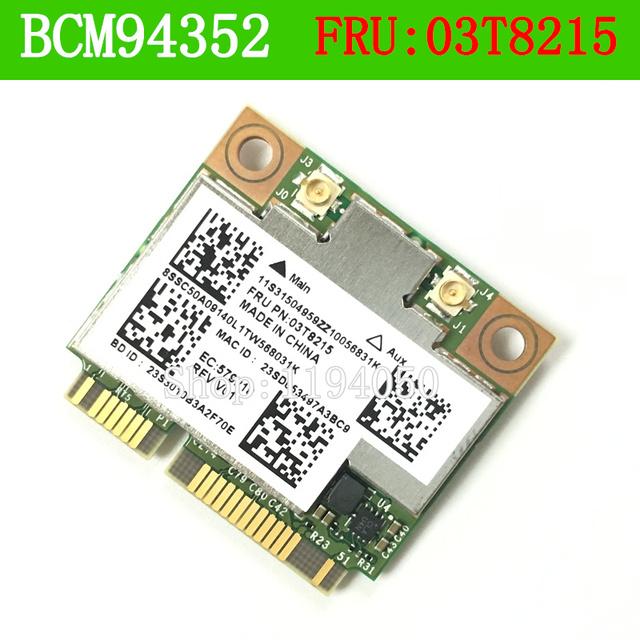 Bcm4352hmb 03t8215 802.11ac 867 mhz cartão sem fio bluetooth para ibm bcm4352 802.11ac wireless lan mac y430p y410p y510p e73 m78