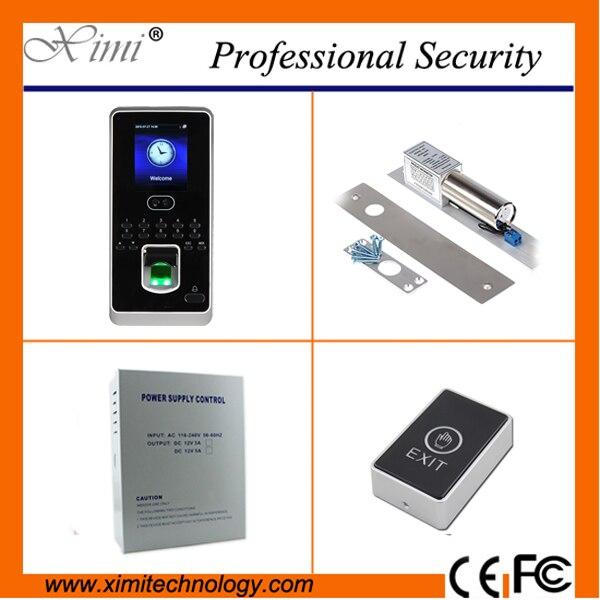 New arrival standalone linux system face fingerprint access control 400 face user free sdk door access controller kit