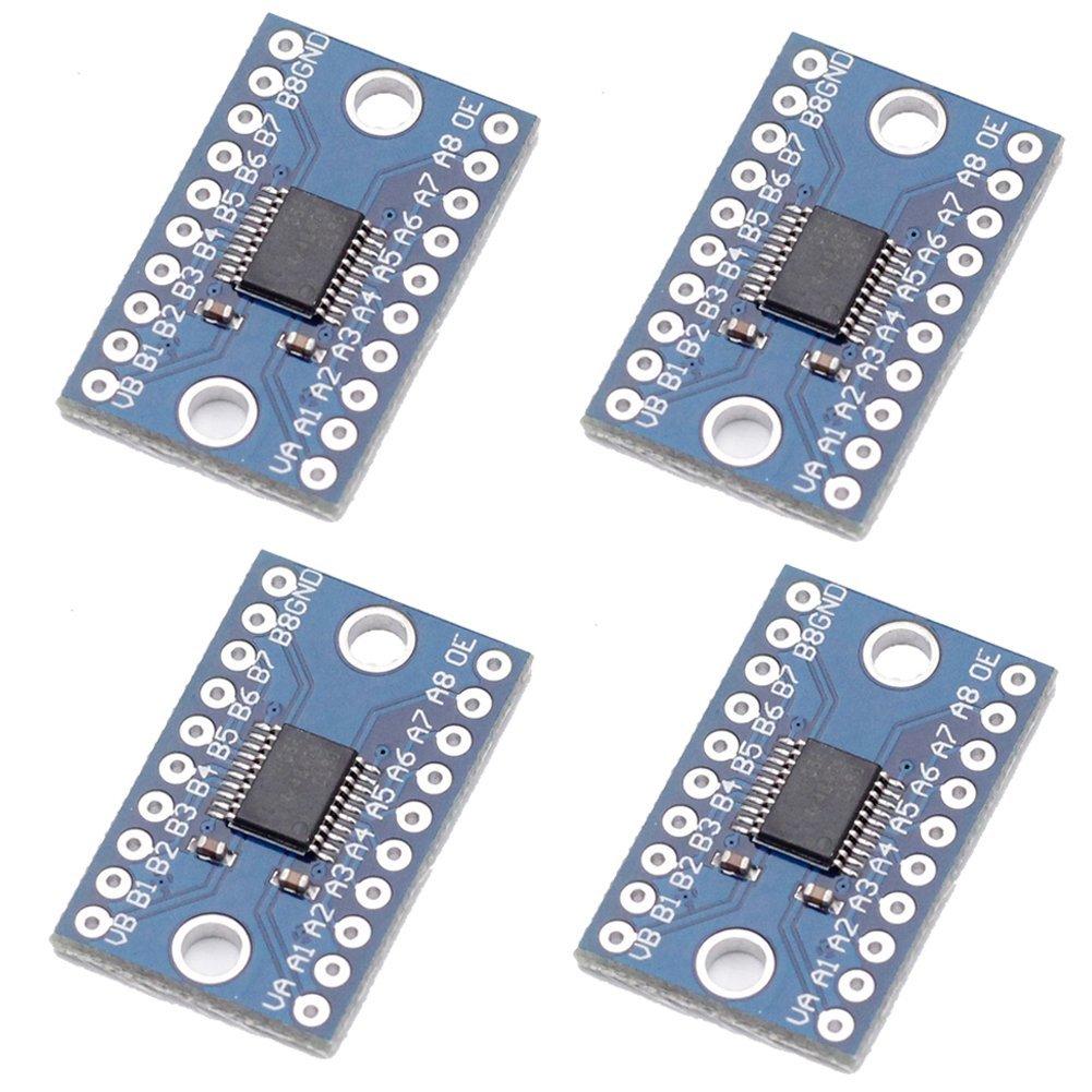 TXS0108E 8 Channel Logic Level Converter 3.3V 5V Bidirectional High Speed Full Duplex for Arduino Raspberry Pi (Pack of 4)TXS0108E 8 Channel Logic Level Converter 3.3V 5V Bidirectional High Speed Full Duplex for Arduino Raspberry Pi (Pack of 4)