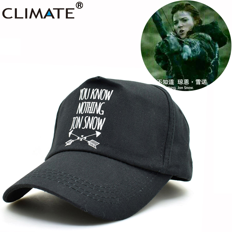CLIMATE 2017 TV Game Of Thrones Stark Targaryen Jon Snow Hodor Adjustable Baseball Caps Unisex Men Women Black Cool Hat Caps suh jude abenwi the economic impact of climate variability