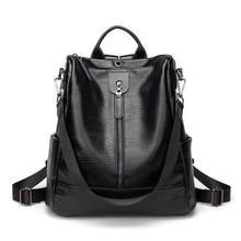 купить Sale Women's PU Leather Backpack Large-capacity Youth Leather Backpacks For Teenage Girls Female School Shoulder Bag Backpack по цене 1814.89 рублей
