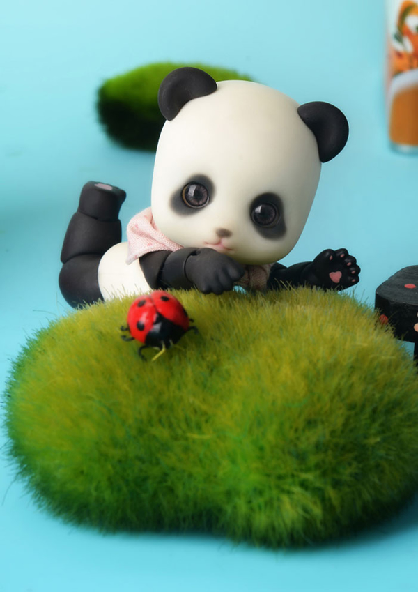 1/8 scale BJD Pet Elf pop BJD/SD cute panda Pandy figure doll DIY Model Toys gift.Not included Clothes,shoes,wig