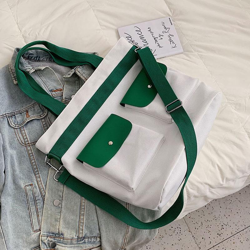 Version coréenne grand sac femme 2019 nouvelle grande capacité sac à main sac à bandoulière mode 100 loisirs toile fourre-tout sac