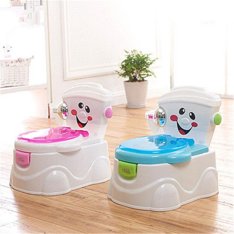 Portable Kids Backrest Urinal Baby Toilet Training Potties Seats With Armrests Children Antiskid Bottom Healthcare Potty Seats