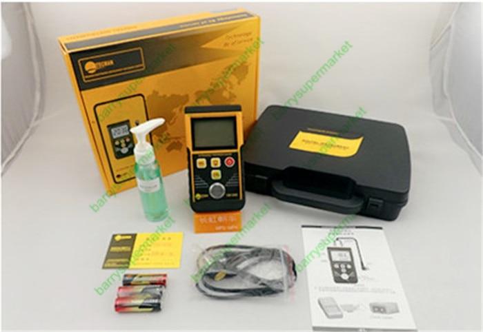 Protable Digital Ultrasonic Thickness Gauge Meter Sound Velocity Measurement Range 1.2~220mm Width Tester Multifunction TM130D