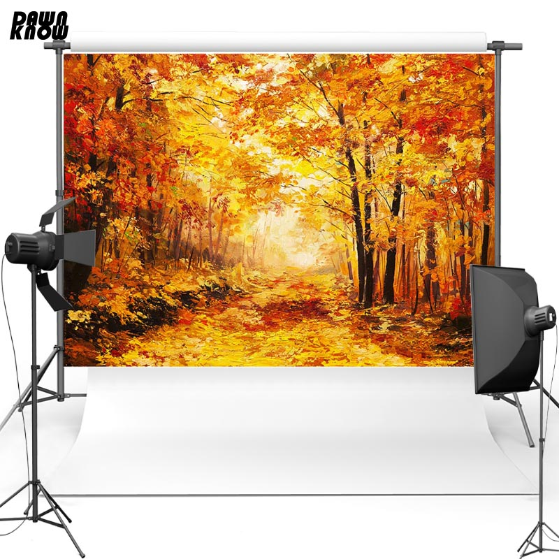 Dawnknow Maple Leaf New Fabric Polyester Photography