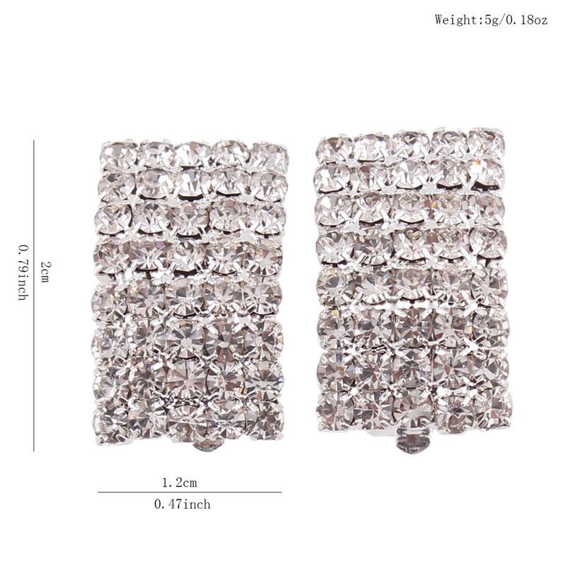 Grace Jun Gaya Baru Berlian Imitasi Kristal Klip Geometri pada - Perhiasan fesyen - Foto 5