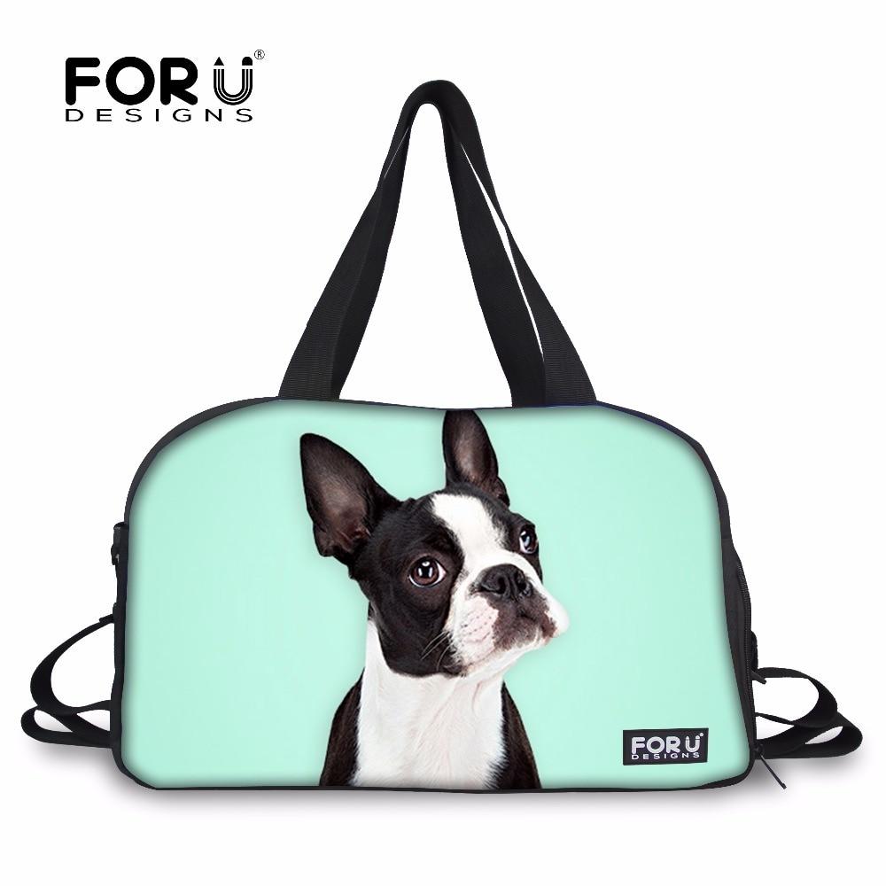 FORUDESIGNS Sports Gym Bags Training Bag Outdoor Bulldog Boston Terrier Printing Yoga Mat Bag Large Tote Shoes Pocket Bolsa 2018|bolsas bolsas|bolsa tote|bolsa g - title=