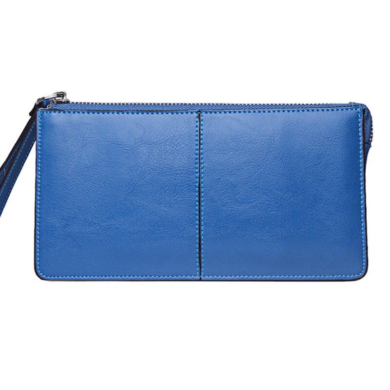 2016 Brand Fashion Zipper Clutch Bag Handbag Wallet Women Genuine Leather Cowhide Long Purse Card Holder