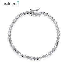 Luoteemi Gloednieuw Ontwerp Tennis Armband Voor Vrouwen Elegante Partij Datum Pulseira Feminina Luxe Ronde Cz Vrouwelijke Kerstcadeau