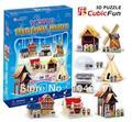 Всемирный Традиционный Дом CubicFun 3D образовательные головоломка Бумаги и EPS Модель Бумажного Главная Украшение для подарка рождества