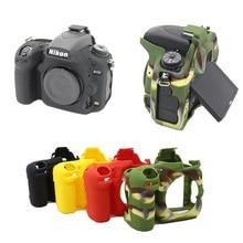 Хороший Камера видео сумка для Nikon d750 силиконовый чехол резиновая Камера защитный чехол Средства ухода за кожей кожного покрова камуфляж черный, красный желтый