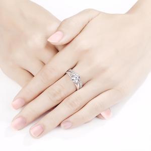 Image 5 - Newshe sólida plata 925 Vintage 2 Ct ronda AAA CZ anillo de compromiso nupcial conjunto de joyería clásica para las mujeres 1R0050