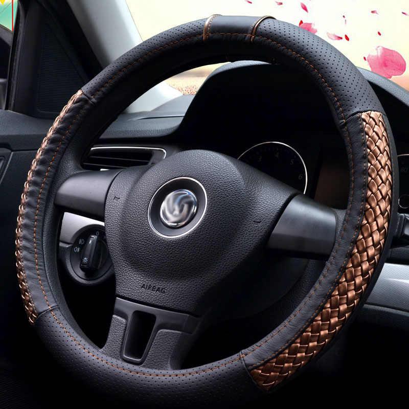 38 سنتيمتر سيارة تتميز بكسوة جلدية مصنوعة من البولي يوريثين غطاء عجلة القيادة لشركة فيات باليو بونتو كوبو سيسينتو سيينا ستيلو تيمبرا تيبو uno