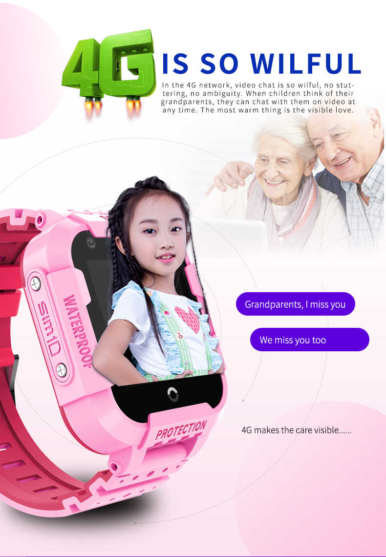 Lastest Child 4g Smart Watch Student GPS SOS Positioning Waterproof Phone Wifi Video Call IP67 Waterproof Android Baby SIM Watch
