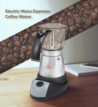Electrical Espresso Moka Pot Coffee Percolators Italian Mocha Coffee Maker 220V-240V Stovetop Filter Percolator Cafetiere фото