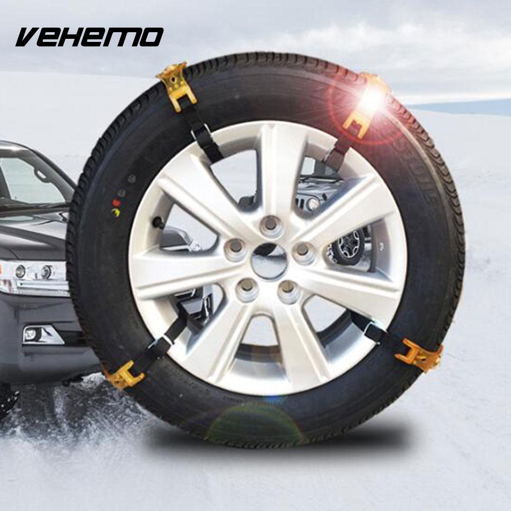 Vehemo Transparent Yellow TPU Anti-Skid Belt Snow Tire Chain Roadway Safety Snow Chain Climbing Mud Ground Mud Wheel Durable