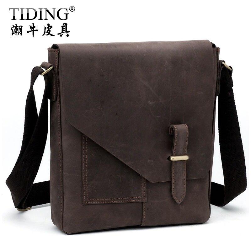 ФОТО Hot Sale! Cattle personalized vintage crazy horse leather messenger bag commercial shoulder bag male messenger bag 10653