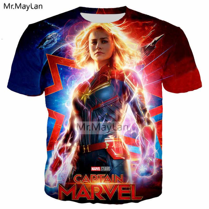 2a8dbe91 ... Movie Captain Marvel Carol 3D Print 2019 New Design Tshirt Women/Men  Hipster Crewneck T ...