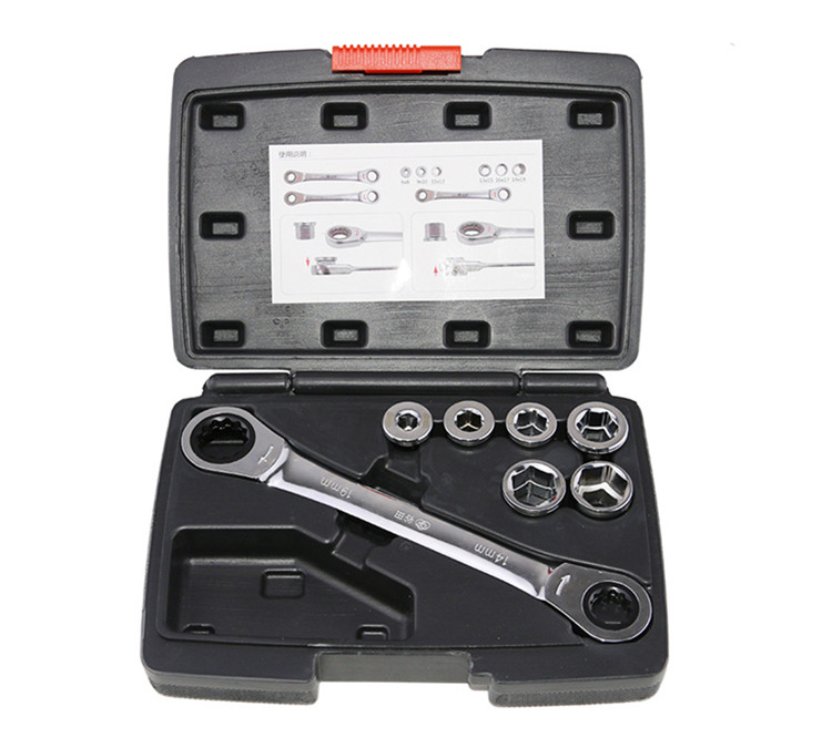 High Quality 12pcs Ratchet Wrench Socket Spanner Set Hardware Vanadium Chrome-vanadium Steel Repairing Kit Hand Tools Set chrome vanadium steel tip of the tail tip wrench ratchet wrench 22 24 fast ratchet spanner tools