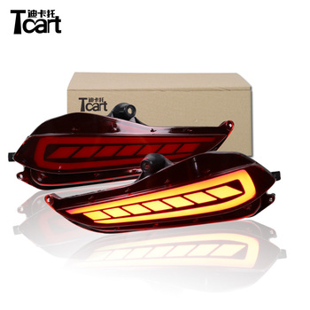Tcart 2Pcs For Toyota Yaris 2017 2018 LED DRL Daytime Running Light Daylight Rear Bumper Light Brake Lights Tail light фото