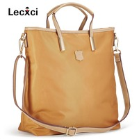 2018 ladies shoulder messenger bag Oxford nylon waterproof fabric large capacity package simple vertical handbag casual shopping