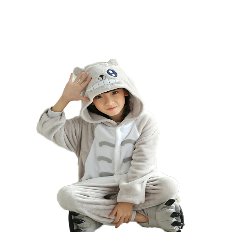 Winter-Baby-boys-sleepwear-Totoro-christmas-pajamas-for-girls-Flannel-Animal-Pajamas-Kid-warm-Pajama-sets (2)