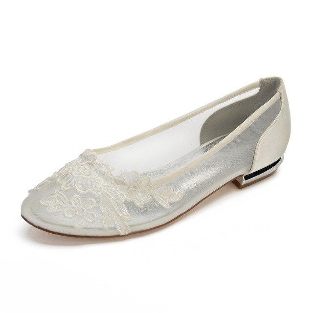 Creativesugar arredondado toe senhora sapatos baixos com rendas applique vestido de noiva doce sapatos meninas apartamentos partido quinceanera